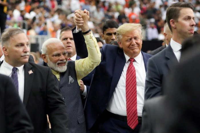The 2+2 dialogue on Wednesday comes after a record four meetings between Prime Minister Narendra Modi and US President Donald Trump this year, including the massive joint address by the leaders in Houston in September. Photo/Reuters