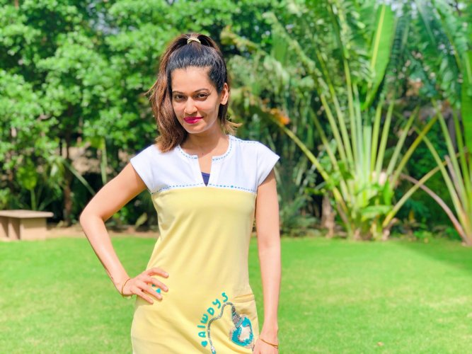 In the wake of an FIR filed against Payal Rohatgi, the Rajasthan police on Sunday detained the model in Ahmadabad from her parents' house and brought her to Bundi (a district in Rajasthan), where the case was lodged against her. Photo/Twitter (@Payal_Rohatgi)