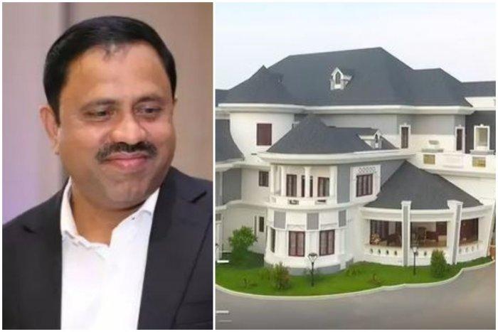 Joy Arakkal and his palatial house (DH photo)
