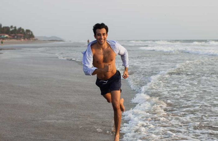 Actor Rahul Khanna visits beaches in north Goa to participate in the hatchings of marine turtles and in an effort to support the conservationists there. Photo credit: Sheetal Mallar