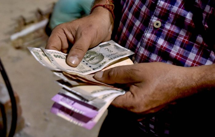 The rupee continued to depreciate further and touched the mark of 72.09 against the American currency, down 43 paise.
