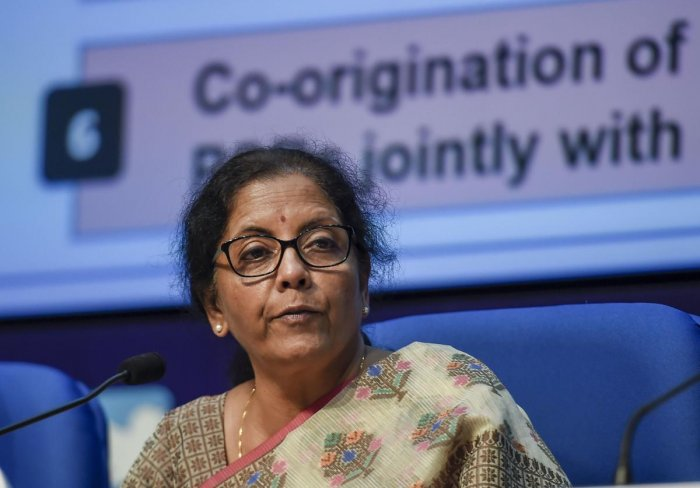 """""""On our side, the Reserve Bank Governor spoke about it during our turn to intervene. I got the sense that many countries were cautioning on rushing into this,"""" Sitharaman told a group of Indian reporters in response to a question on the discussions on Facebook's Libra. Photo/PTI"""