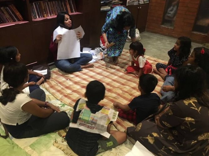 Storytelling sessions can teach social skills to kids.