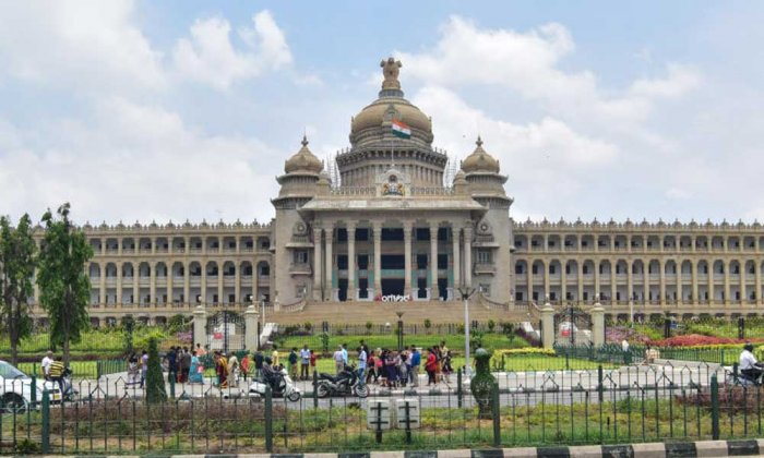 The incident occurred adjacent to the Vidhana Soudha, where the secretariat building stands