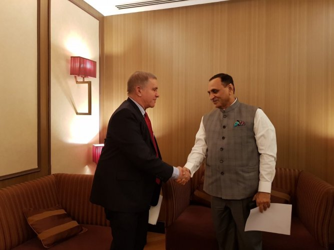It is Rupani's first trip abroad as chief minister and comes months after he hosted Israeli Prime Minister Benjamin Netanyahu in Gujarat in January.