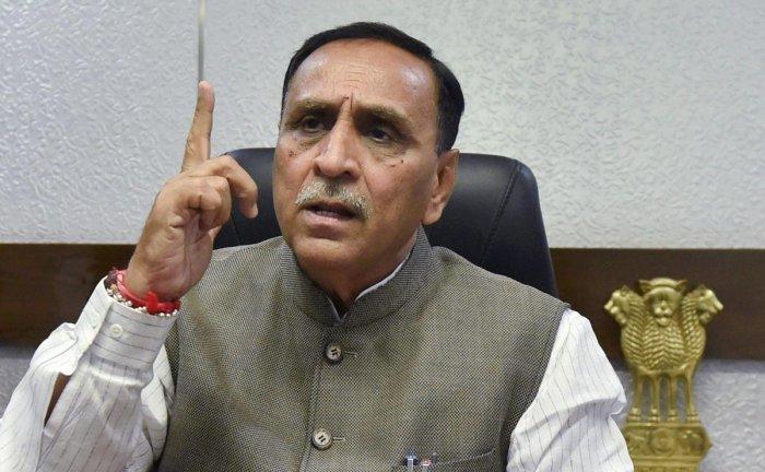 Gujarat CM Vijay Rupani file photo (PTI Photo)