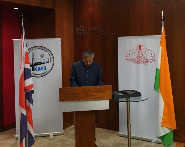Kerala CM at the London Stock Exchange
