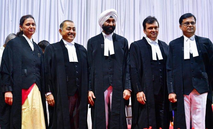 Justice Pradeep Singh Yerur (centre). DH FILE PHOTO