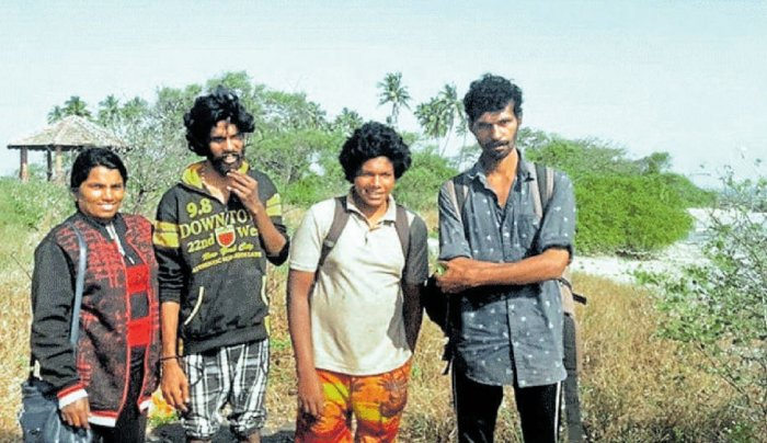 Jastin (34), Sheeja (33), Josh (28) and Harish (17), all hailing from Kochi in Kerala, who had visited St Mary's Island on Saturday were forced to spend the entire night on the island. Their ordeal ended the following morning and they were escorted safely to Malpe beach.