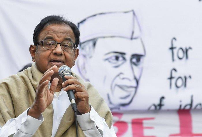 Congress leader P Chidambaram (PTI Photo)