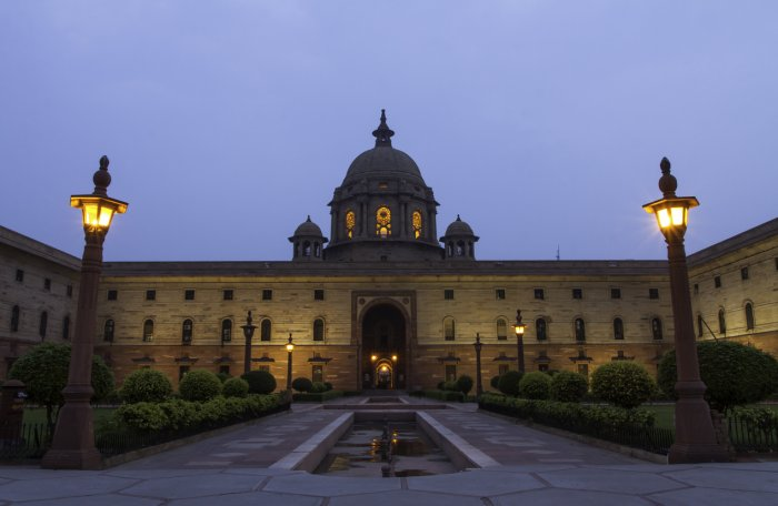 It was under the Stupa-shaped dome of Viceroy's House (now called Rashtrapati Bhavan) that the first government of Independent India was sworn in. Credit: iStock Photo