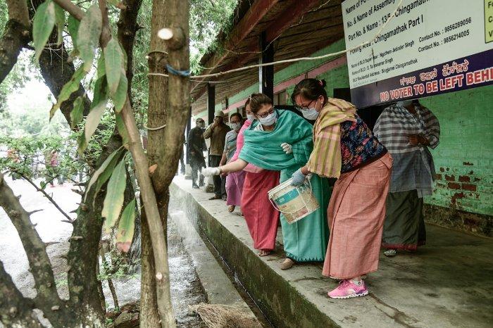 Quarantine centre at Singjamei in Imphal West district, Manipur. (DH Photo)