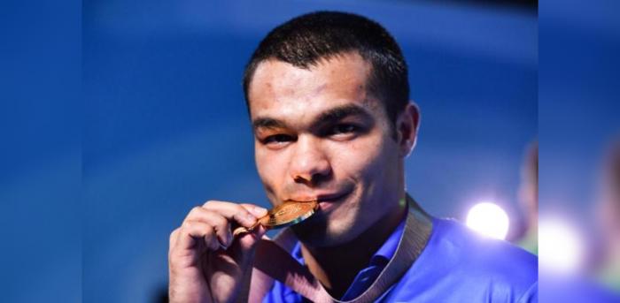 Gold medallist India's Vikas Krishan. Credit: AFP Photo