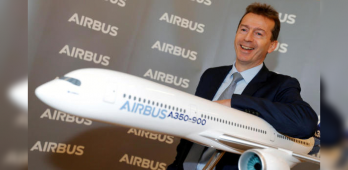 Airbus CEO Guillaume Faury. Credit: Reuters Photo