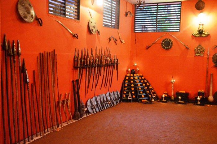 A Kalari or design space used for Kalaripayattu. PHOTOS BY AUTHOR