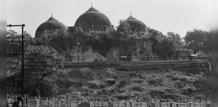 Babri Masjid before the demolition. Credit: PTI Photo