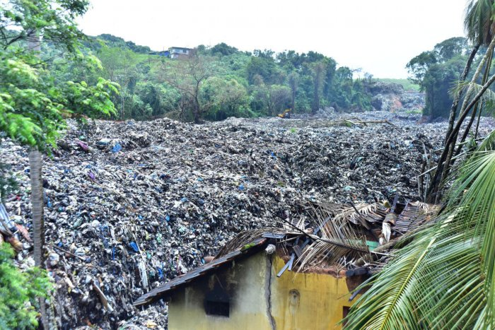 A file photo of garbage slide at Pacchanady.