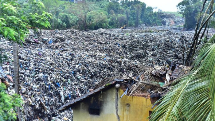 File photo of a garbage slide in Pacchanady