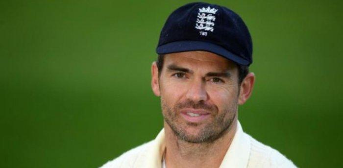 England's James Anderson. Credit: AFP