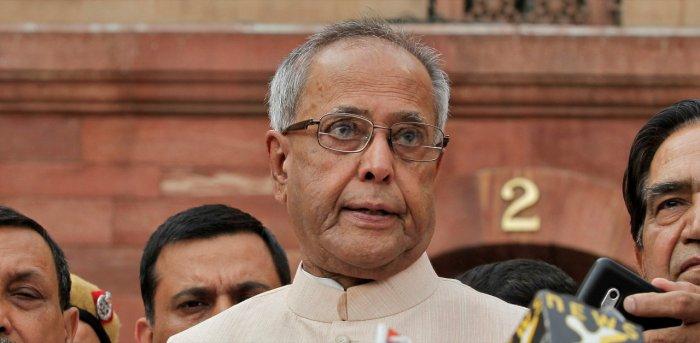 Former President Pranab Mukherjee. Credit: Reuters Photo