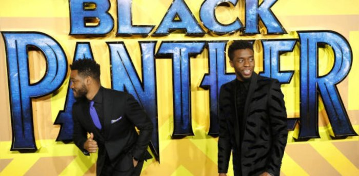 Actor Chadwick Boseman and Director Ryan Coogler arrive at the premiere of Marvel's 'Black Panther' . Credit: Reuters Photo