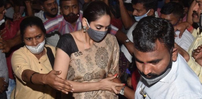 Sandalwood actress Ragini Dwivedi. Credit: DH Photo/S K Dinesh