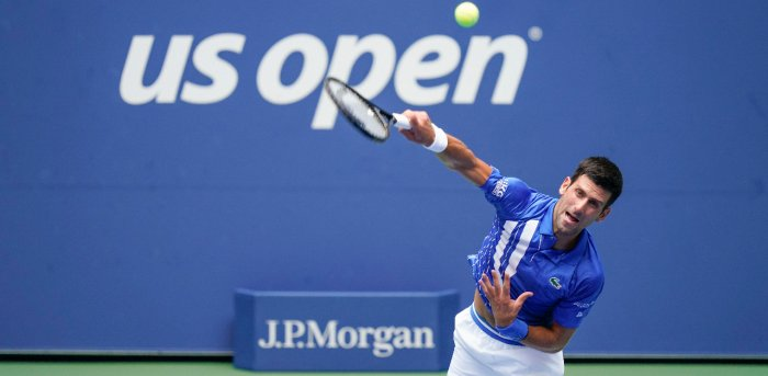 Novak Djokovic Disqualified From Us Open After Hitting Official With Ball Deccan Herald