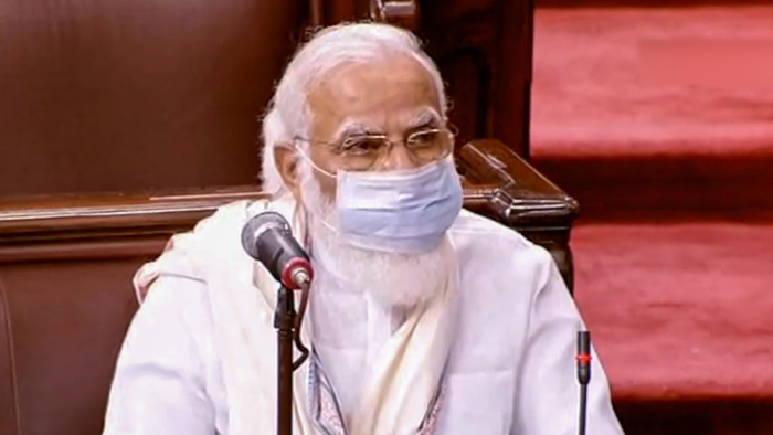 "Prime Minister Narendra Modi, during his speech at Rajya Sabha, quoted Dr. Manmohan Singh to slam those taking a ""U-turn"" over farm laws."