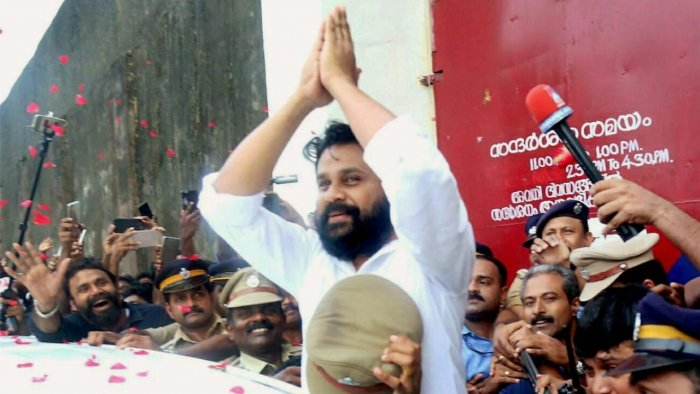 Actor Dileep is among the accused in the case. Credit: PTI/file photo.