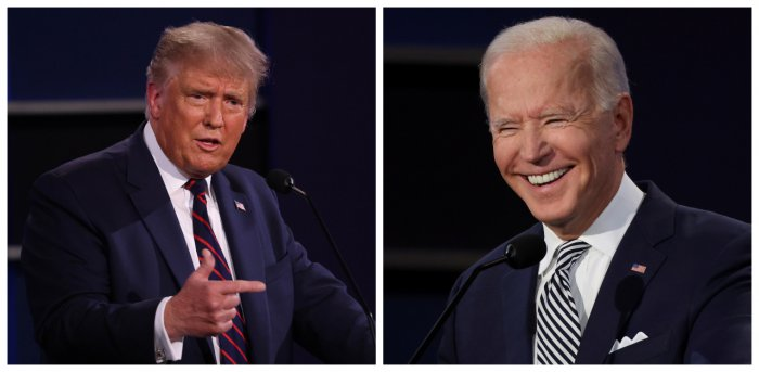 Former Vice President Joe Biden in debate with President Donald Trump. Credit: AFP and Reuters Photo