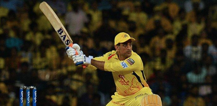 Chennai Super Kings cricket captain Mahendra Singh Dhoni. Credit: AFP Photo