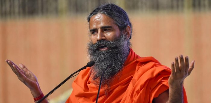 Baba Ramdev falls off elephant while performing yoga at Mathura camp – Watch