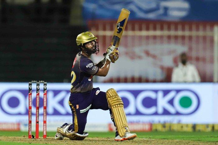 Kolkata Knight Riders player Rahul Tripathi