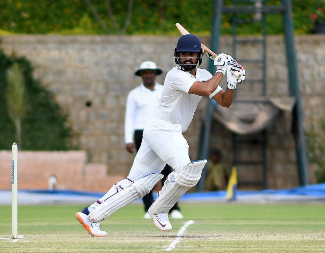 India A's Karun Nair made a pivotal 78 on the opening day of the four-day match against South Africa A. dh file photo