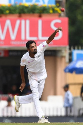 Shahbaz Nadeem, coming in as a replacement for the injured Kuldeep Yadav, has given a good account of himself in the third Test against South Africa. afp