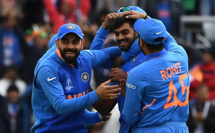 STRONGER TOGETHER Every player has played his role in ensuring a comfortable outing so far for the Indian team at the World Cup. AFP