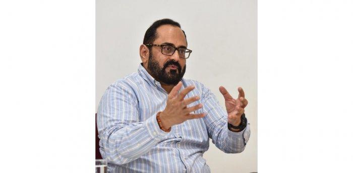 BJP MP Rajeev Chandrasekhar. Credit: DH Photo