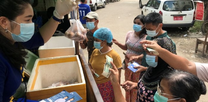 New Myanmar political party woos voters with grocery truck | Deccan Herald