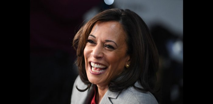 The first woman of colour to be elected Vice President,Kamala Harris. Credit: AFP
