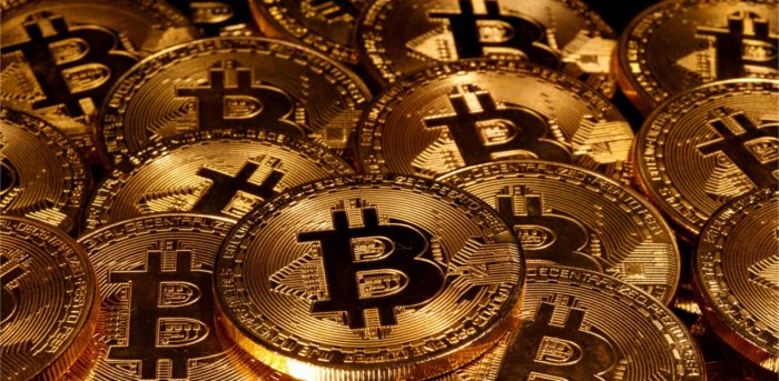 Representations of virtual currency Bitcoin. Credit: Reuters