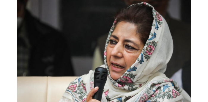 Peoples Democratic Party (PDP) President Mehbooba Mufti. Credit: PTI Photo