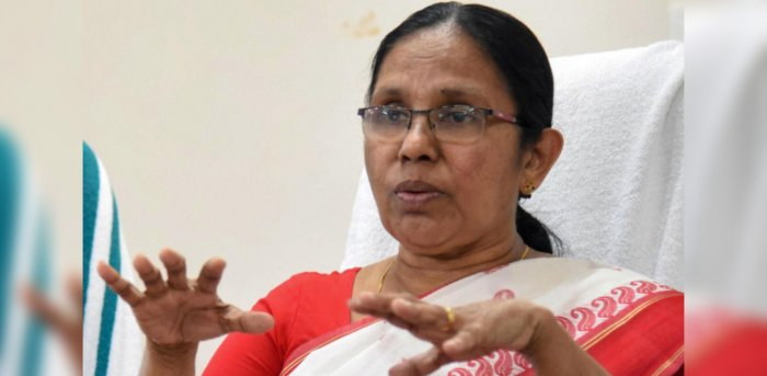 Kerala Health Minister K K Shailaja. Credit: PTI Photo