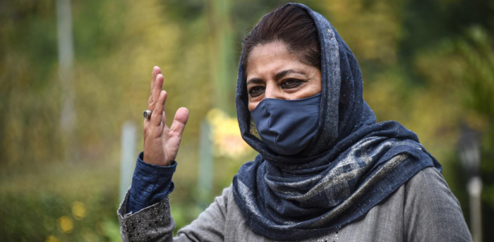 Mehbooba Mufti, president of Peoples Democratic Party. Credit: PTI
