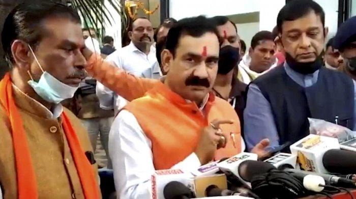 Madhya Pradesh Home Minister Narottam Mishra. Credit: PTI