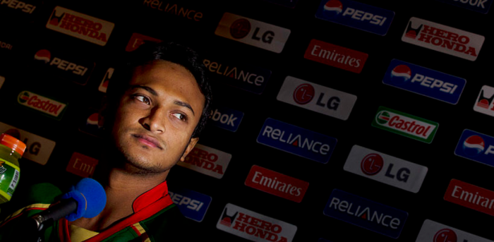 Bangladesh star all-rounder Shakib Al Hasan. Credit: Getty Images