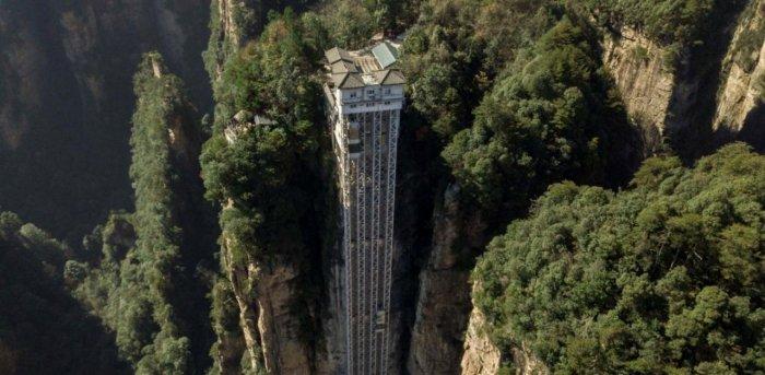 Bailong elevators in Zhangjiajie. Credit: AFP Photo