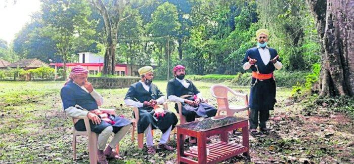 A public awareness meeting on Kodava Scheduled Tribe tag was held at Kangalathnad Mandh in Mayamudi village.