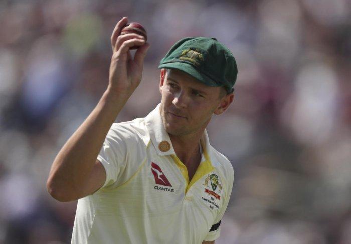 Australia's Josh Hazlewood. Credit: AP