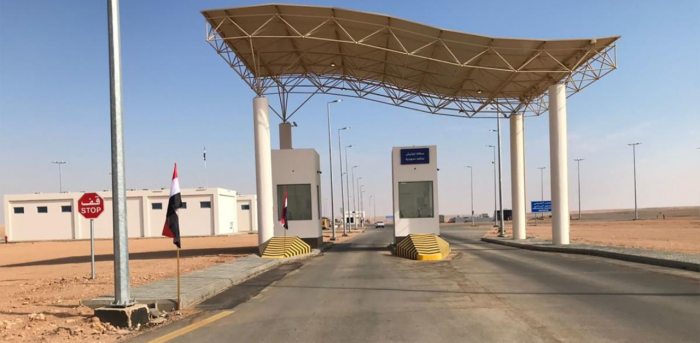 A handout picture released by the Iraqi Border Crossing Commission on November 18, 2020 shows the Arar border crossing between Iraq and Saudi Arabia. Credit: AFP