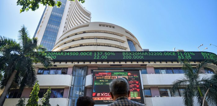 Similarly, the broader NSE Nifty advanced 19.10 points or 0.15 per cent to 12,893.30. Credit: PTI Photo